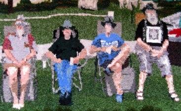 Four Hats 104 x 61 cm £400