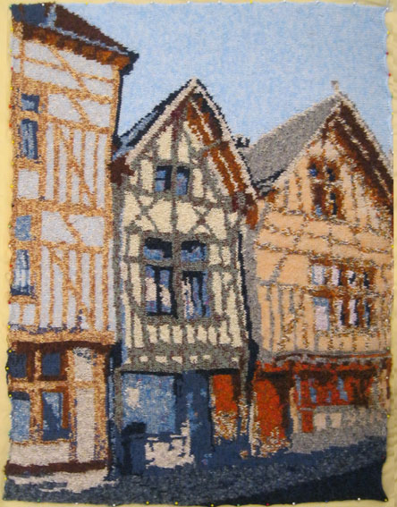 Houses in Troyes, France 73 x 97 cm £400