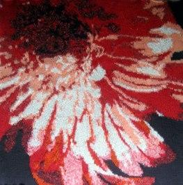 Red Chrysanthemum 73 x 73cm £300