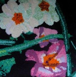 Primulas in the Undergrowth 73 x 73 cm £300