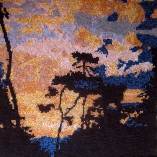 St Palais Sunset 73 x 73 cm £300