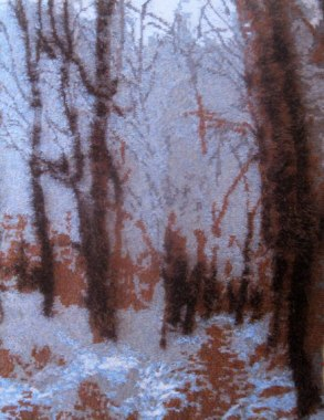 Snowy Forest 73 x 97cm £400