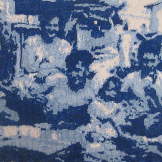 Family on the Beach 1950s 73 x 73 cm £300