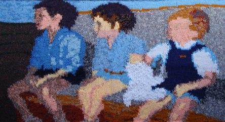 Three Boys on a Settee 84 x 48 cm £100