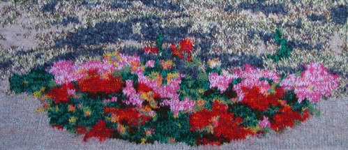 Flowers in Conques 70 x 31 cm £100