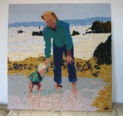 With Daddy on the Beach 1990 75 x 77 cm £300