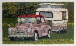 Morris Minor & Puck 85 x 50 cm £250