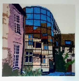 Old Reflected in the New, Troyes 69 x 69 cm £350