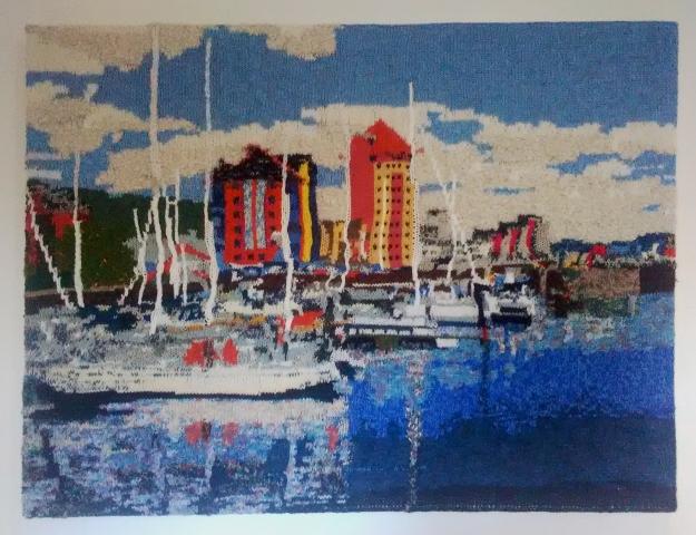 Swansea Marina 2 97 x 73 cm £400