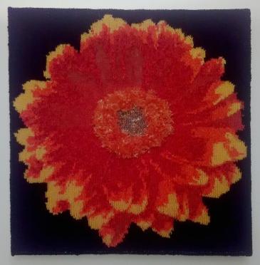 Orange Daisy 57.5 x 57.5 cm £60