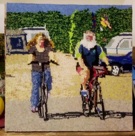 Bike Ride 70 x 70 cm £300