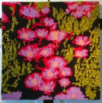 Pink Flowers 55 x 55 cm £75
