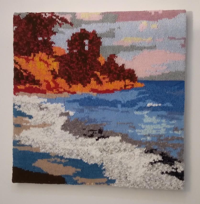 Kato Gatzea Sunset, Greece 57 x 57 cm £100