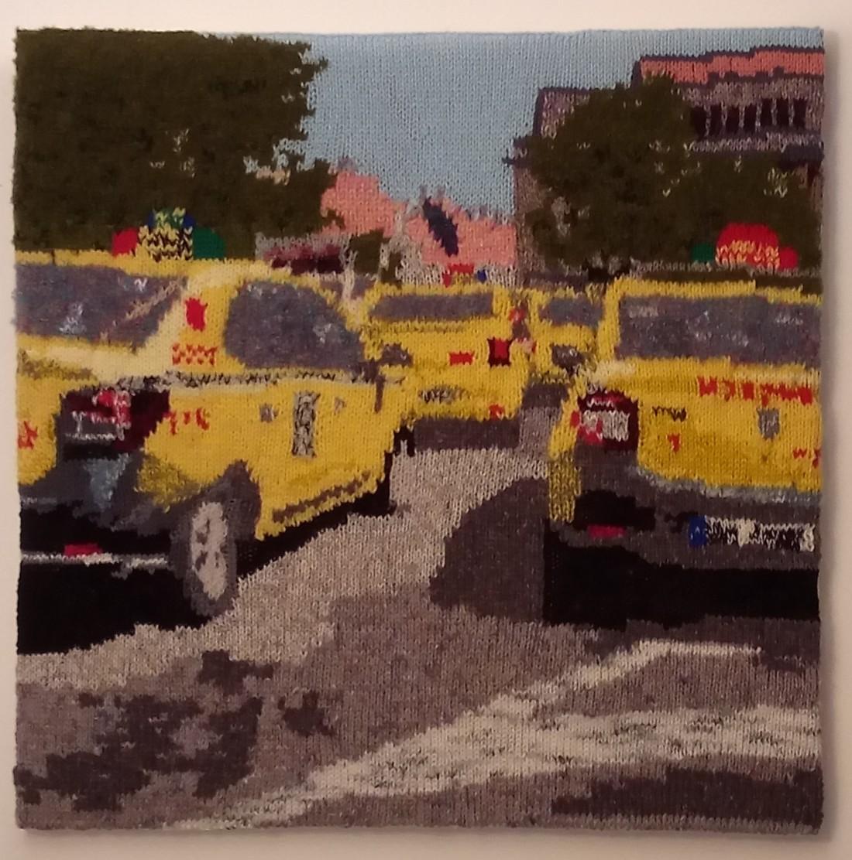 225 2020 Yellow taxis in sibiu romania